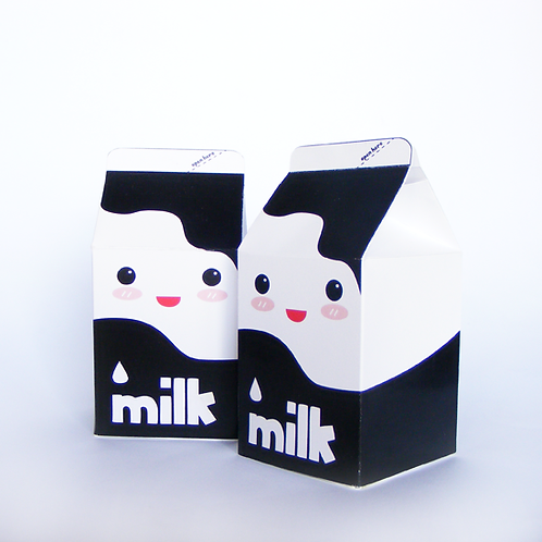 cajita bric de leche para fiesta infantil