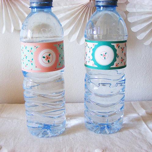 étiquettes petite bouteille d'eau