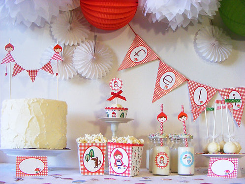 Déco sweet table chaperon rouge