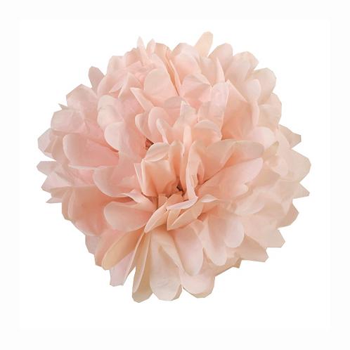 Pompón papel de seda. Fiesta flores  / 1 ud.