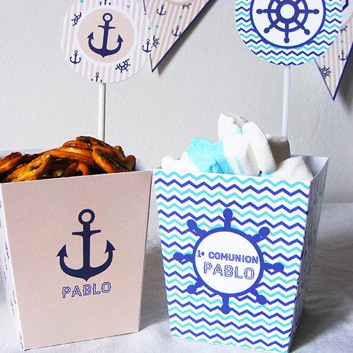 Jolies boîtes à popcorn pour votre candy bar et buffet de fête