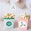 Cajita popcorn con flores