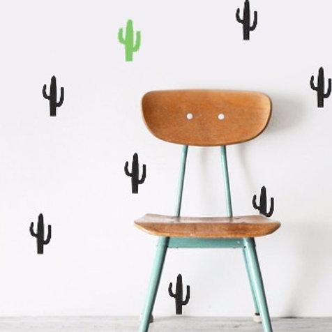 Vinilo de pared modelo cactus