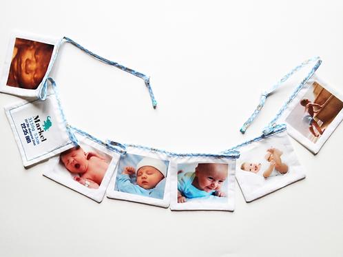 Guirnalda  con fotos de tu bebé
