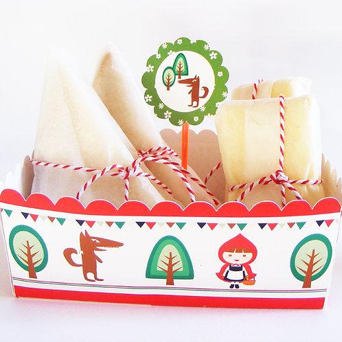 Mini barquette, plateau snacks fête enfants