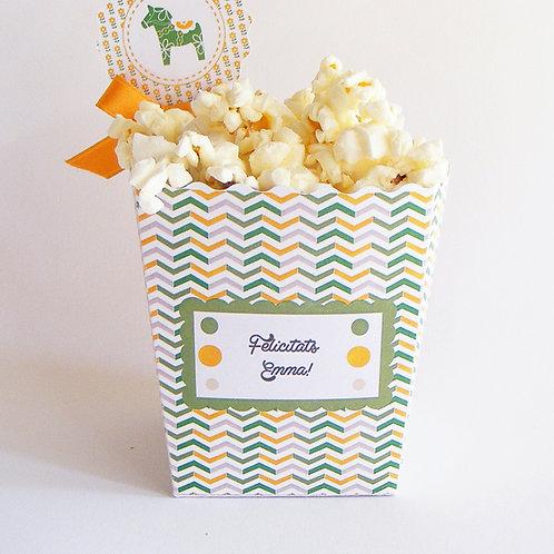 Boîte à popcorn et bonbons