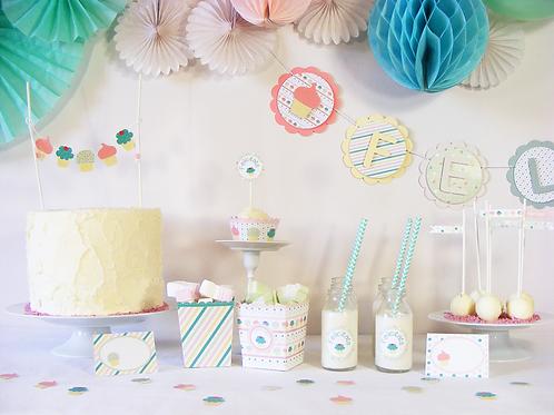 Boîte à fête thème cupcake