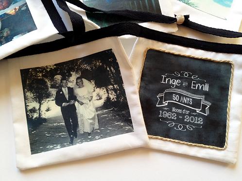 Guirlande de fanions en tissu personnalisée avec photos