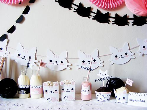 Fiesta infantil de gatitos. Fiesta temática de gatitos