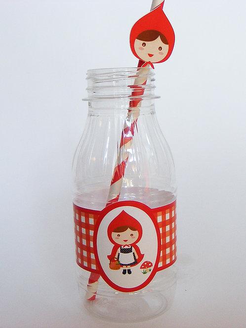 Botellita de plástico para fiestas infantiles