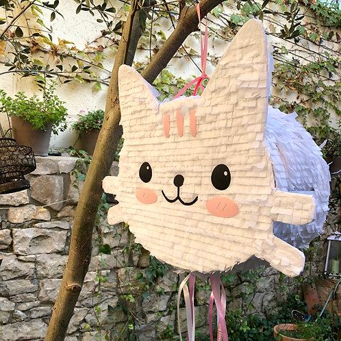 Piñata gatito blanco