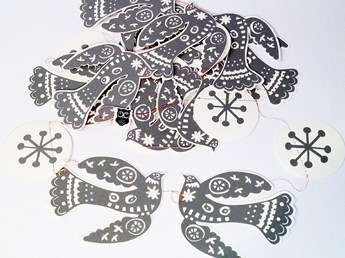 Guirnalda escandinava de cartulina