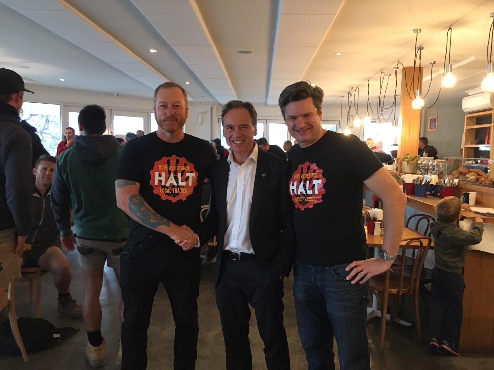 Minister Hunt with HALT staff