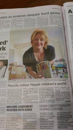 Pencils in the Tassie News
