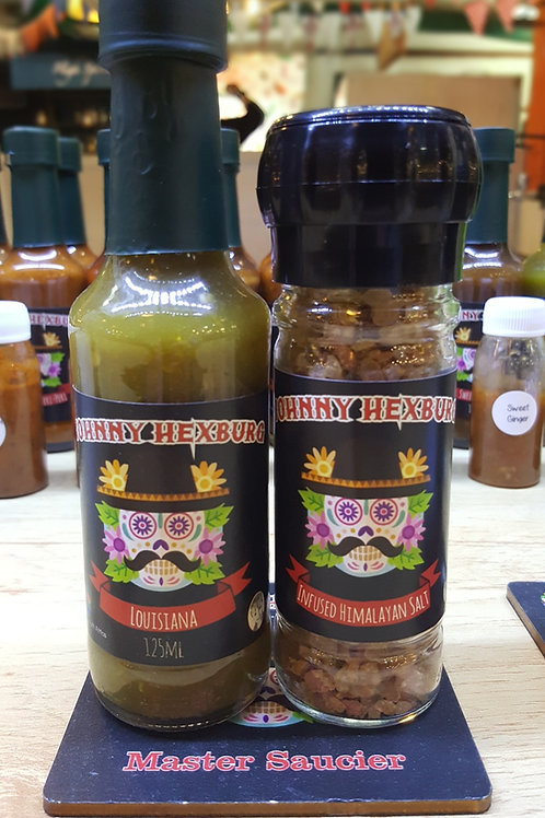 Hot Sauce Infused Himalayan Salt Combo - Louisiana