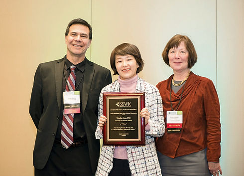Dr. Woojin Jung, Recipient of the 2020 Society for Social Work and Research Outstanding Social Work Doctoral Dissertation Award