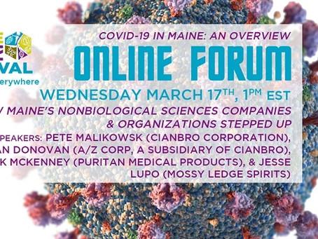 March 17, 2021 online forum