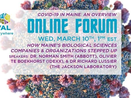 March 10, 2021 online forum