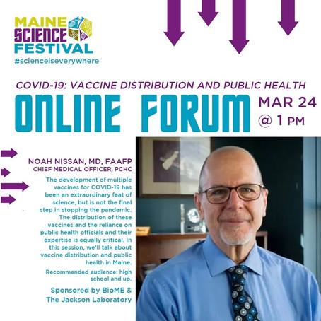 March 24, 2021 online forum