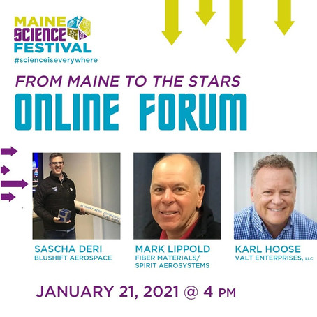 Maine Science Festival 2021 January online forum