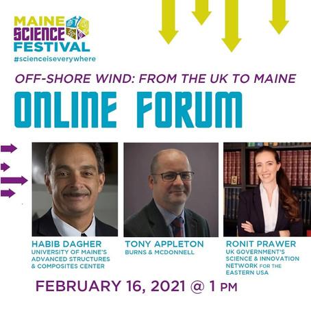 Maine Science Festival 2021 February online forum