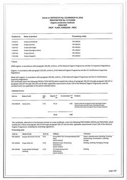 Organic USDA 미국 오가닉 인증서 3