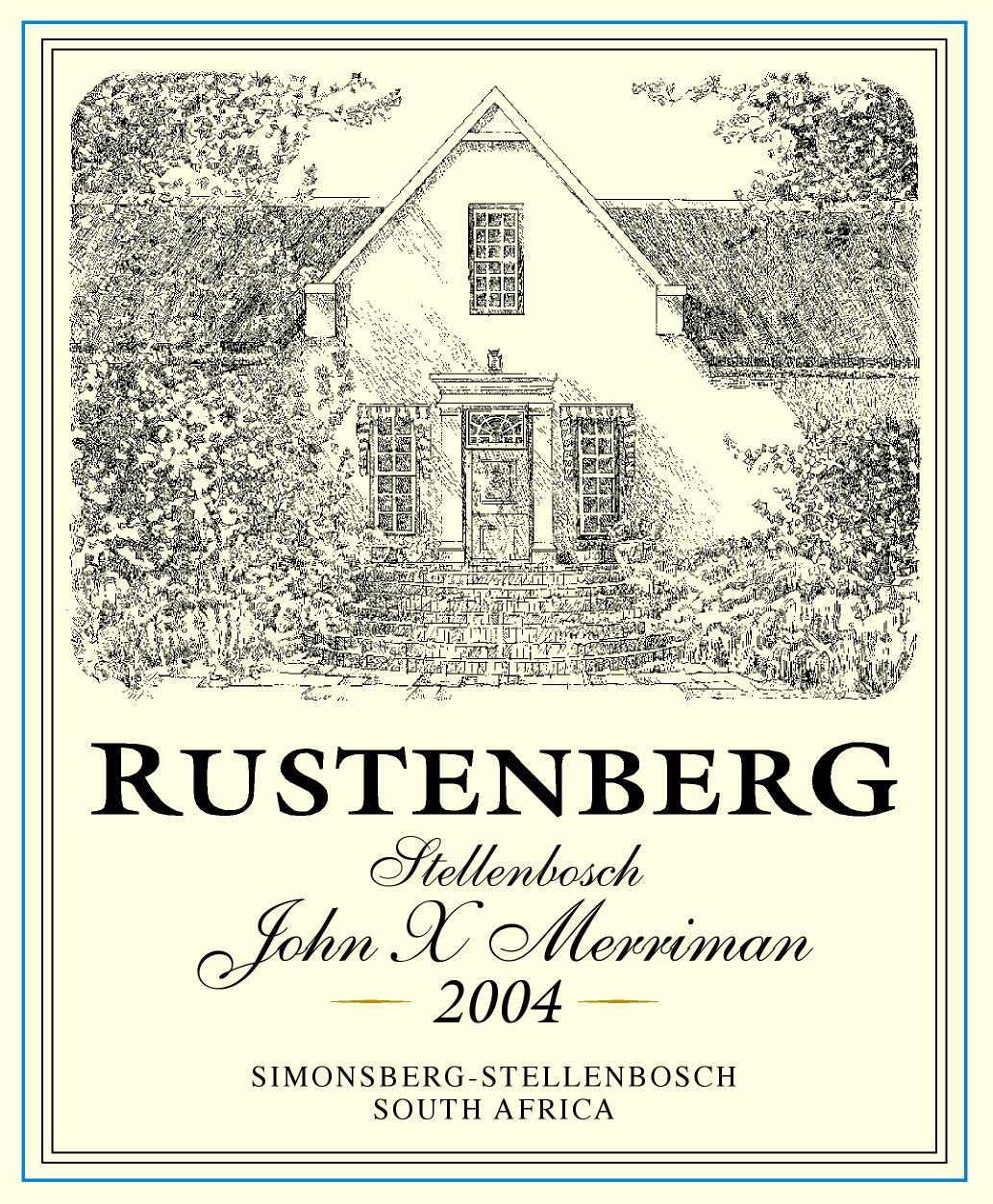 Rustenberg John X Merriman 2010