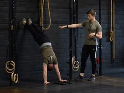 Kipping Handstand Push-up Progressions