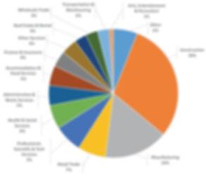 Employment sector chart