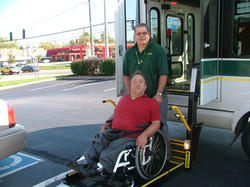 Driver-getting-passenger-off-the-lift