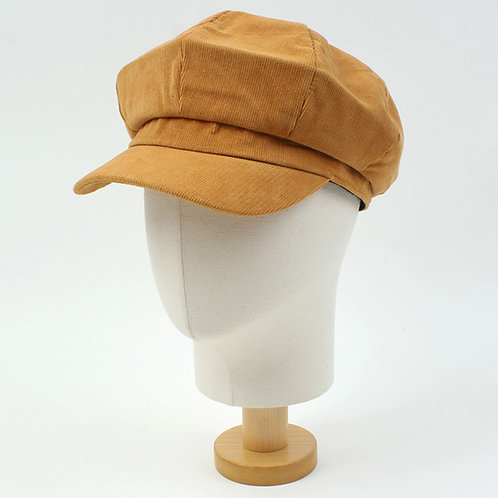 [Universal Chemistry] Corduroy Camel Newsboy Cap  (A0004)