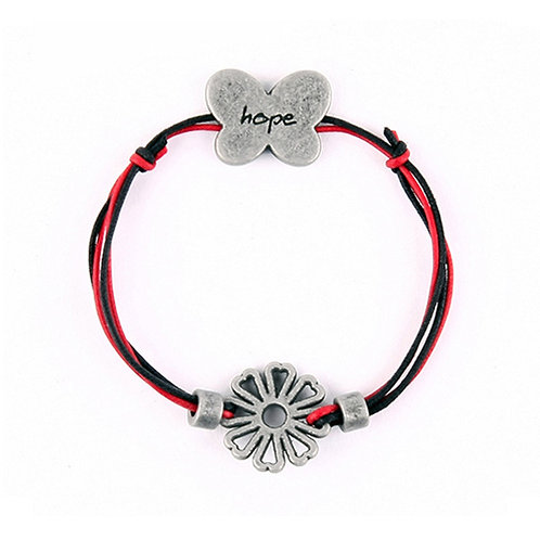 ANYHUMAN String Hope Butterfly Cosmos Bracelet - Red (J0004)