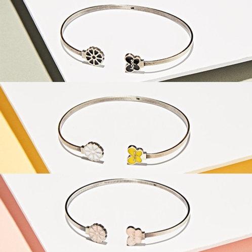 ANYHUMAN Silver Hope Butterfly Cosmos Bracelet (J0007)