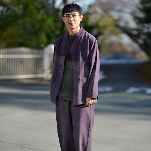 Zijangsa Modern Unisex Purple Hanbok [24004]  (Top + Pants)(Z0002)