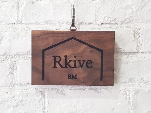 Rkive RM Wooden Doorplate - Custom Made Available (RK0007)