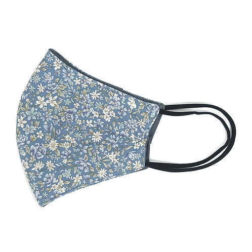 Cloth Mask - Floral (Ash Blue)(M0017)