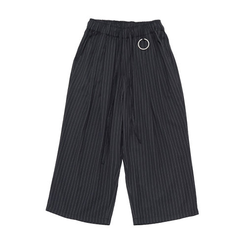 [A-NOTHING]  STRIPE OR PLAIN WIDE PANTS/ 4 Choices (A0014)
