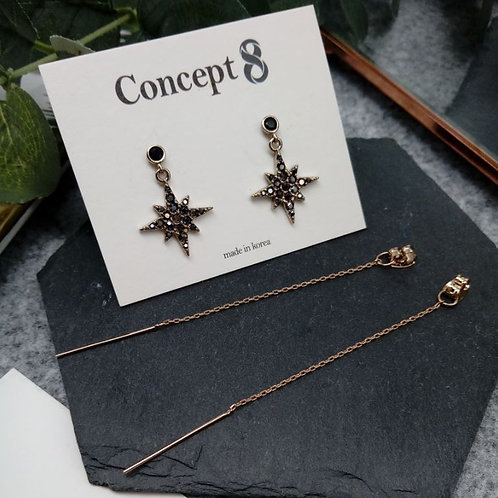 [CONCEPT 8] Bronze Polaris 2-Way Earrings 92.5% sterling silver 18083 (J0026)