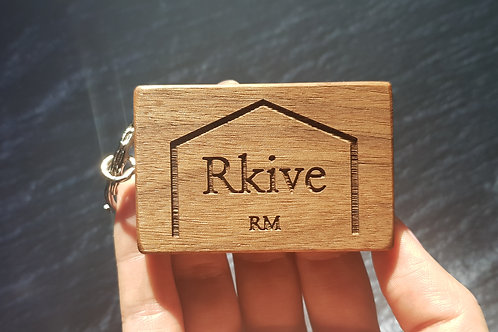 Rkive RM Rectangular Wooden Key Chain (RK0001)