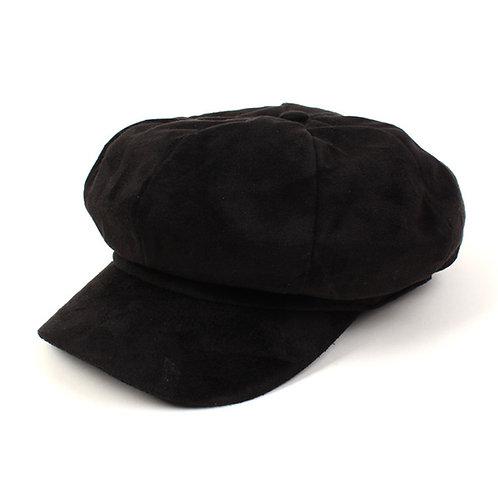 [Universal Chemistry] Suede Black Newsboy Cap 뉴스보이캡 (A0005)