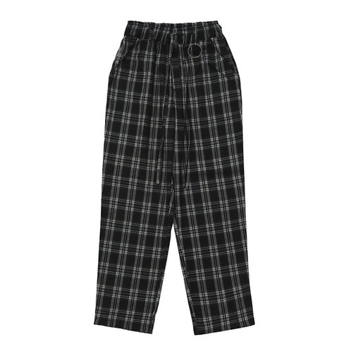 [A-NOTHING] ALMAS CHECK LOOSE-FIT PANTS / 2 Choices (A0016)