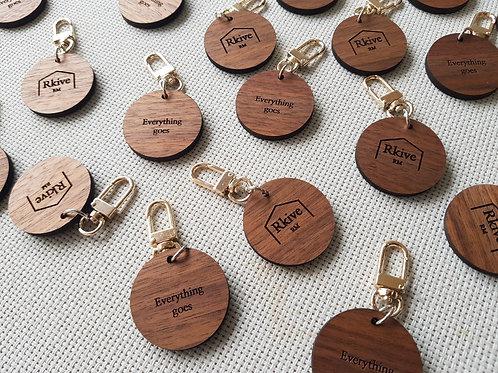 Rkive RM Circle Wooden Key Chain (RK0002)
