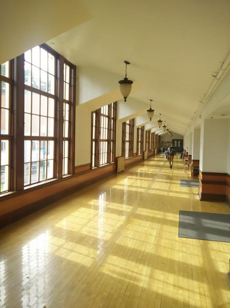Gerlinger's characteristic hallways