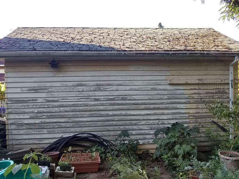 Structurally sound garage in need of some exterior updates
