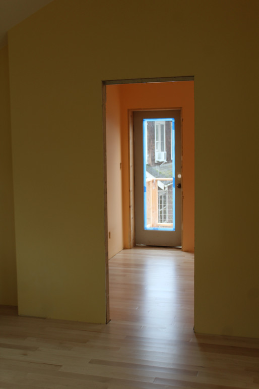Pocket door entry to main bedroom