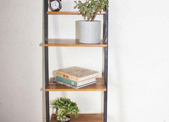 Teak and Metal Shelf