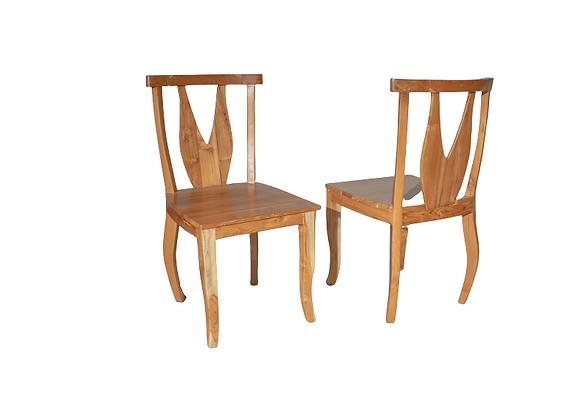 Teak V Cut chair