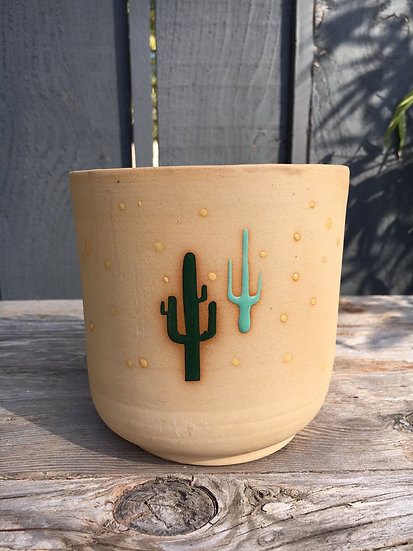"3"", 4"", 6"" or 8"" Bare Cactus Plant Pot"