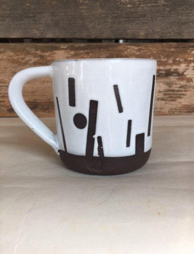 Chocolate/White Confetti Mug