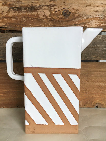 Box Pitcher with Stripes